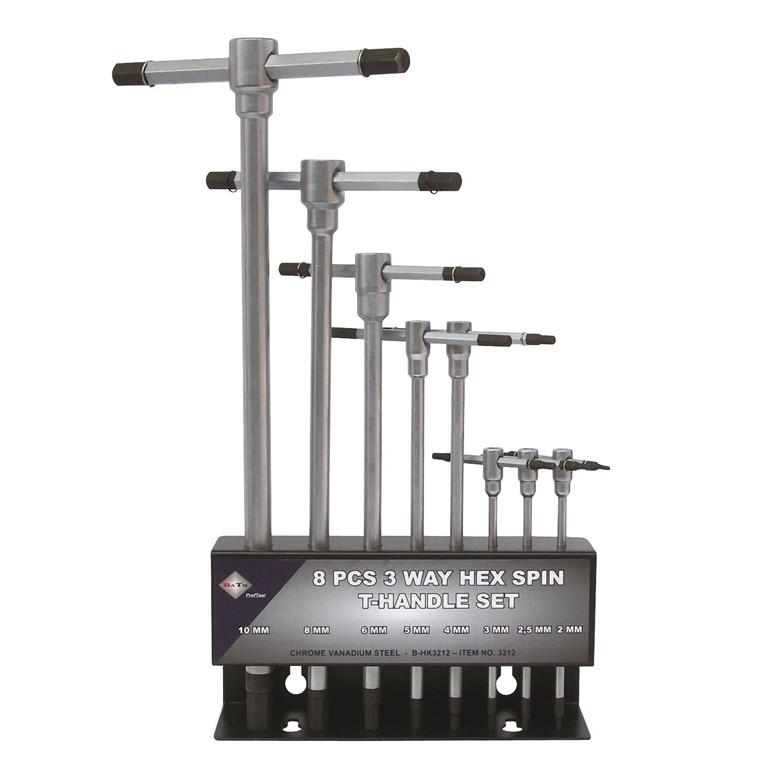 BATO T-Greb Stiftnøglesæt metal 2,0-10,0mm