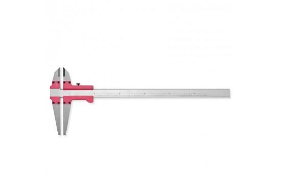 Alu. dobbeltkæbet skydelære 1500x0,05 mm (kæbe 90/500 mm)