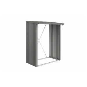 Biohort brændeskur WoodStock 150 i kvartsgrå metallic 157 x 102 x 199 cm