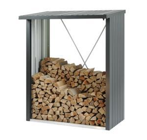 Biohort brændeskur WoodStock 150 i mørkegrå metallic
