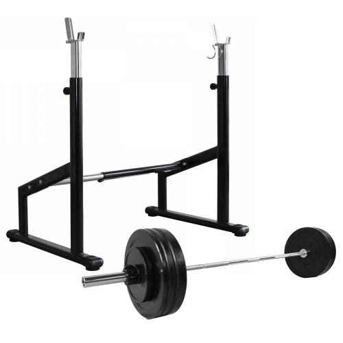 cPro9 Pro Squat Rack + Vægte & Vægtstang (100kg)