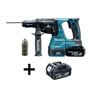 Makita DHR243RTJ borehammer 18V med 2 x 5,0 Ah batteri og lader