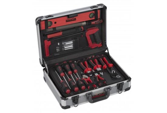 Værktøjssæt 180 dele i aluminiumskuffert