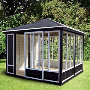 Gardenpro pavillon 311x311 cm/9,7 m2 til selvbyg. Umalet