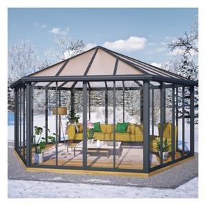 Palram Garda lukket havepavillon i grå 30,7 m2