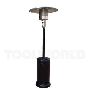 Terrassevarmer sort, stål - 5-13kW varmeeffekt