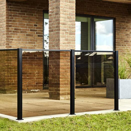 Elmholm glas t/glashegn smoke glas 95x86,8 cm