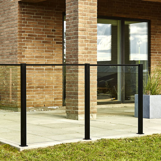 Elmholm glas t/systemhegn klar glas 125x86,6 cm