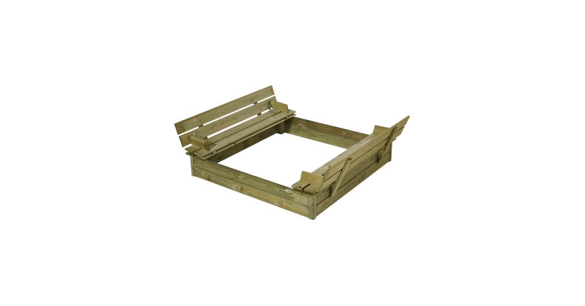 120x120x19cm Plus sandkasse i trykimprægneret fyr/gran - 10-4.dk