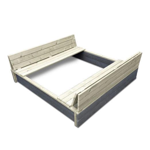 Exit aksent sandkasse XL 136x132 cm m/foldbart låg ¤