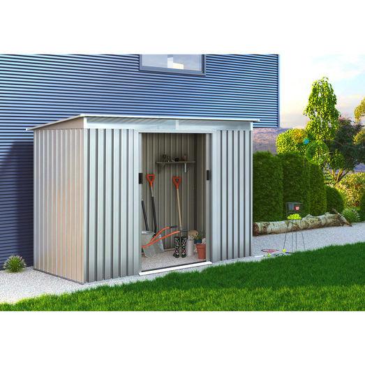 William stål redskabsskur m/dobbeltdøre 4,72 m²