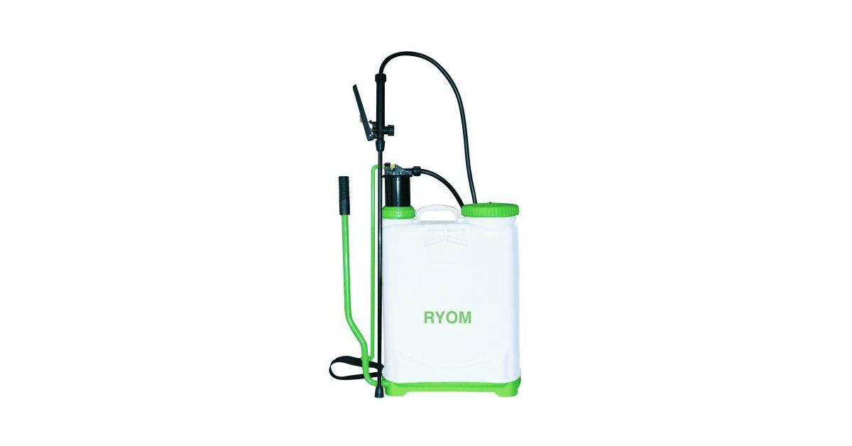 16 liter Ryom rygsprøjte med pumpehåndtag på siden - køb på 10-4.dk