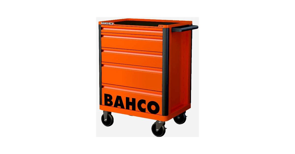 Bahco værkstedsvogn i orange m/5 skuffer - Køb online hos 10-4