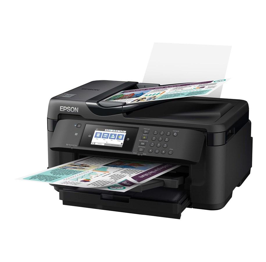 Epson WorkForce WF-7710DWF Blækprinter Multifunktion med Fax - Farve - Blæk