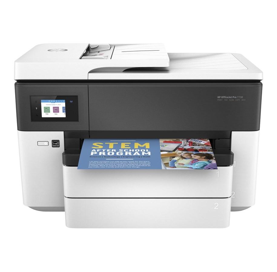 HP Officejet Pro 7730 Wide Format All-in-One A3 Blækprinter Multifunktion med Fax - Farve - Blæk