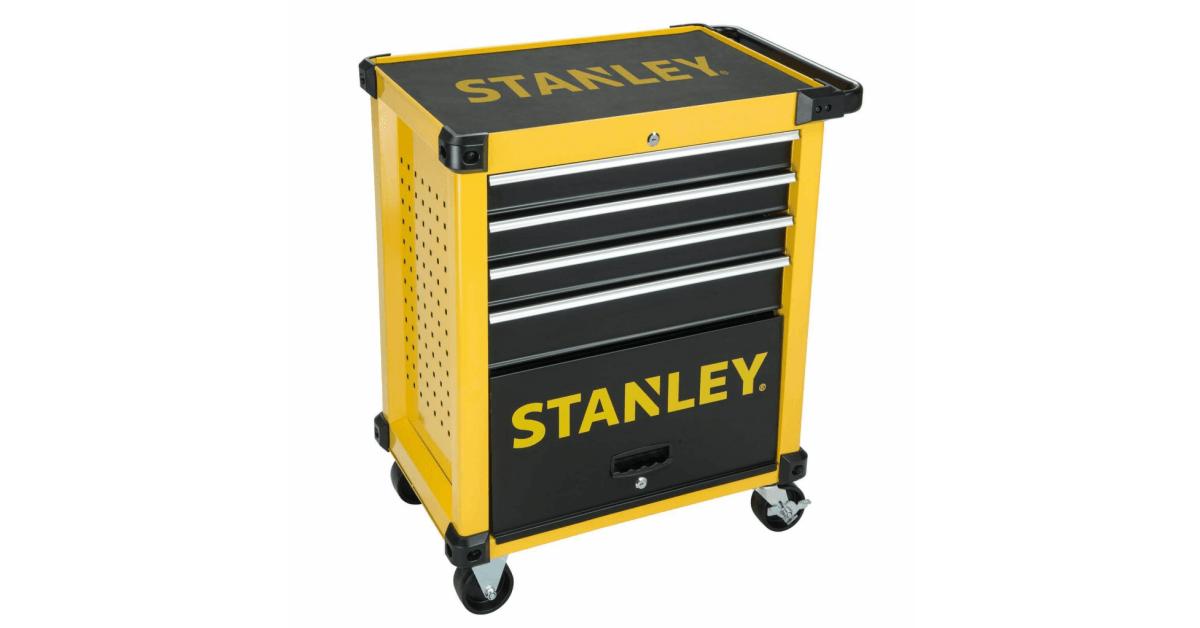 Robust Stanley værkstedsvogn med 4 skuffer - Billigt på 10-4.dk