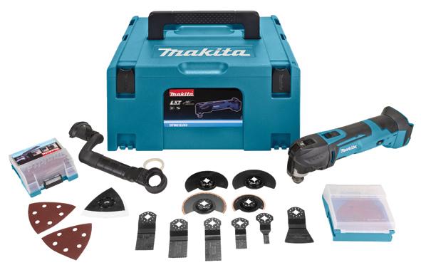 Makita DTM51ZJX3, Skære, Grinding, Save, Skrabning, Sort, Blå, 20000 OPM, 6000 OPM, 1,6°, Batteri