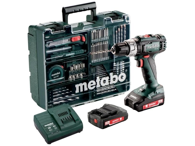 Metabo SB 18 L SET, Pistolgreb boremaskine, Nøglefri, 1,3 cm, 1800 rpm, 2 cm, 1 cm
